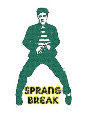 Party Digital Art - Sprang Break by Adam Asar