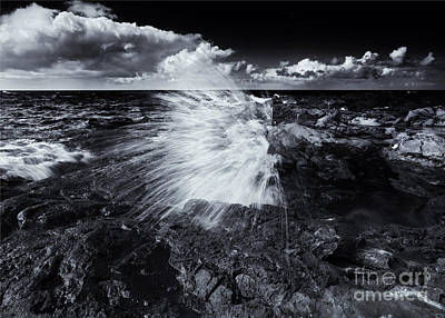 Blowhole Photograph - Spray by Mike  Dawson
