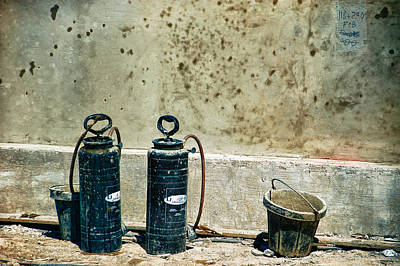 Photograph - Sprayers And Buckets by Trever Miller