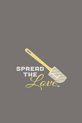 Typography Digital Art - Spread The Love by Nancy Ingersoll