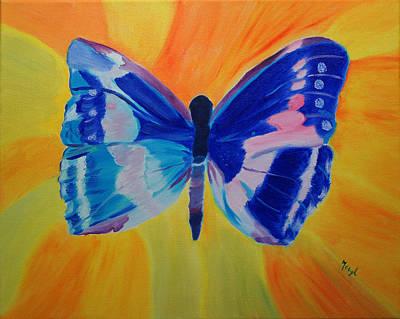 Spreading My Wings Art Print