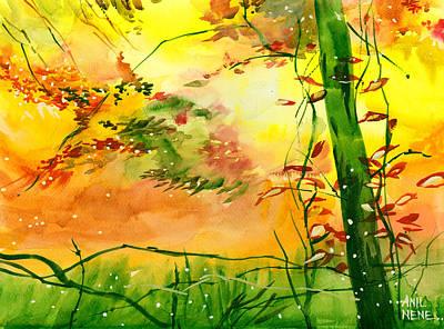 Spring 1 Art Print by Anil Nene