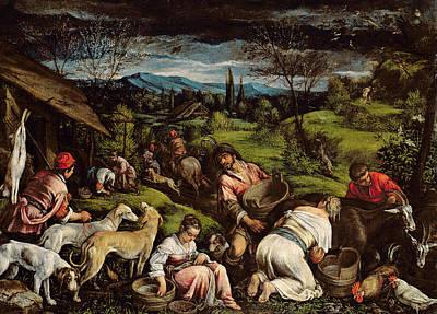 Greyhounds Photograph - Spring, 1576 by Francesco Bassano
