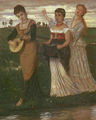 Mandolin Photograph - Spring, 1876 by Arnold Bocklin