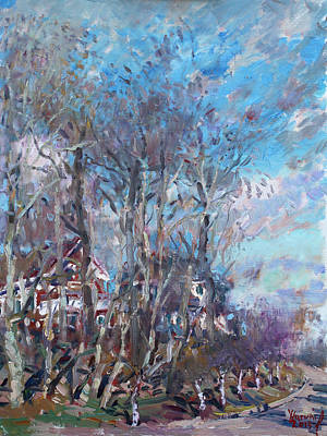 Spring Landscape Painting - Spring 2013 by Ylli Haruni