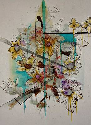 Spray Paint Mixed Media - Spring by Adam Young