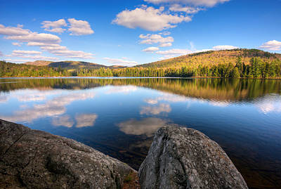Spring Afternoon On Upper Sargent Pond Art Print by Panoramic Images
