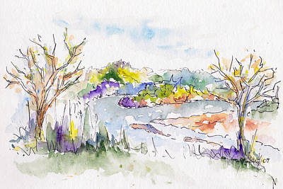 Painting - Spring Along The River by Pat Katz