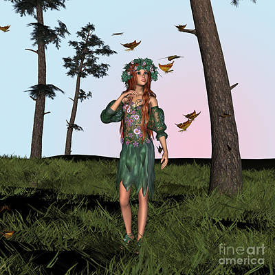 Digital Art - Spring And Butterflies by Design Windmill