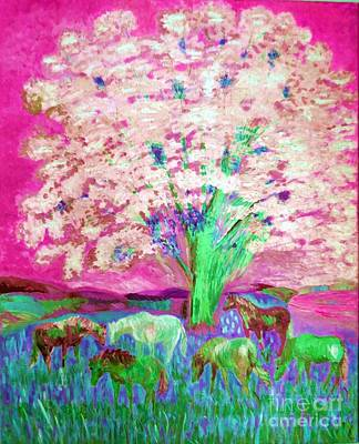 Painting - Spring And Horses Digital 2 by Vicky Tarcau