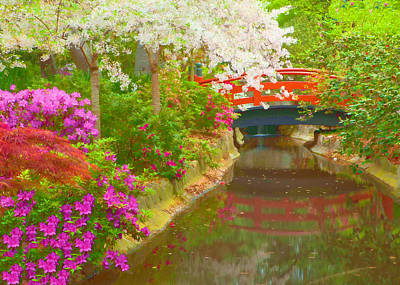 Digital Art - Spring At Descanso Gardens - La Canada California by Ram Vasudev