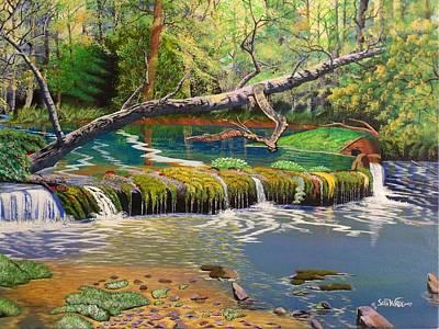 Sandbar Painting - Spring At Doe Run Creek by Seth Wade