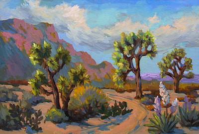 National Parks Painting - Spring At Joshua by Diane McClary
