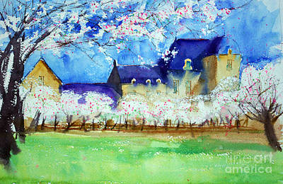 Watercolor Painting - Spring At Pencleu 2 Sketch by Andre MEHU