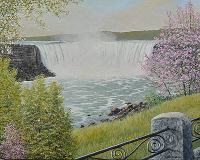 Painting - Spring At The Falls by Jake Vandenbrink