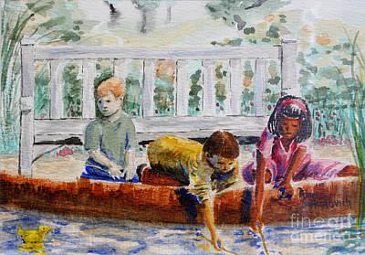 Spring At The Pond Print by Ann Sokolovich