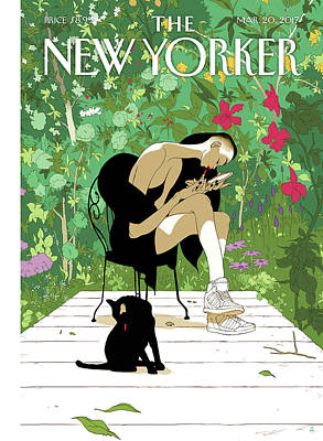 Season Painting - Spring Awakening by Tomer Hanuka