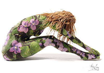 Figure Mixed Media - Spring Awakens Sculpture by Adam Long