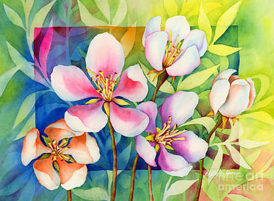 Violet Painting - Spring Ballerinas by Hailey E Herrera