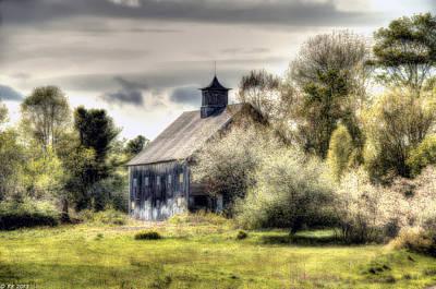Maine Meadow Photograph - Spring Barn by Richard Bean