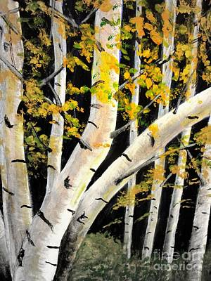 Mixed Media - Spring Birch by Doreen Kirk