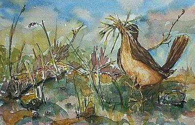 Painting - Spring Robin by Barbara McGeachen