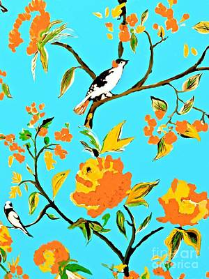 Painting - Spring Birds Are In The Air by Saundra Myles