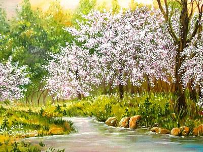 Painting - Spring Blooming by Sergey Selivanov