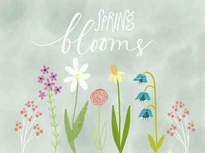Spring Blooms Art Print by Katie Doucette