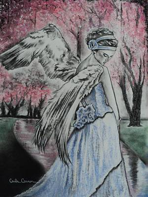 Drawing - Spring Blossom Angel by Carla Carson