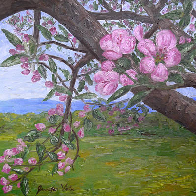 Monticello Painting - Spring Blossoms At Monticello by Jennifer Viola