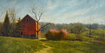 Early Spring Painting - Spring Blossoms by David Henderson