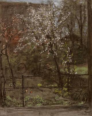 Spring Blossoms Print by Henry Muhrmann