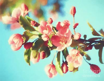 Spring Blossoms In Digital Watercolor Art Print