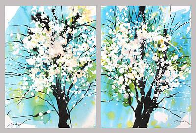 Millbury Painting - Spring Blossoms by Sumiyo Toribe
