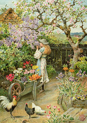 Sniffing Painting - Spring Blossoms by William Stephen Coleman