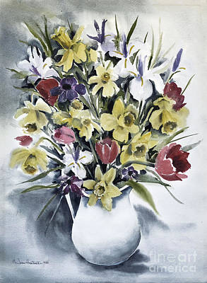 Art Print featuring the painting Spring Bouquet by Joan Hartenstein