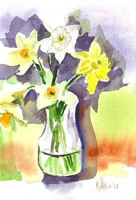 Daffodils Painting - Spring Bouquet by Kip DeVore