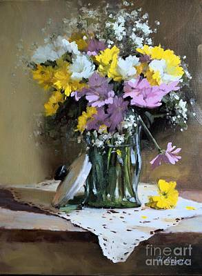 Painting - Spring Bouquet by Viktoria K Majestic