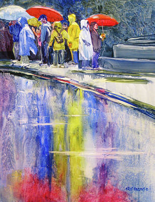 Raincoats Painting - Spring Break  by Kris Parins