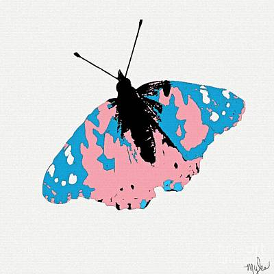 Painting - Spring Butterfly Pink And Blue by Saundra Myles