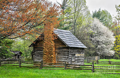 Pucketts Photograph - Spring Cabin I - Blue Ridge Parkway by Dan Carmichael