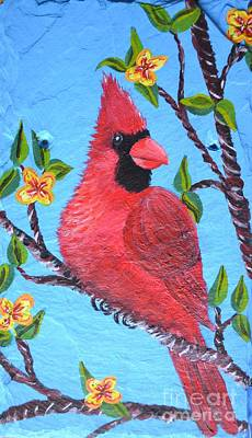 Painting - Spring Cardinal by Cecilia Stevens