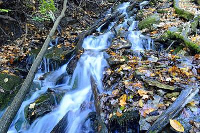Photograph - Spring Cascade by Bonfire Photography