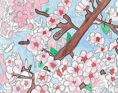 Spring Cherry Blossoms  Art Print by Fred Hanna