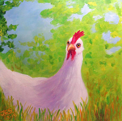 Painting - Spring Chicken by Janet Greer Sammons