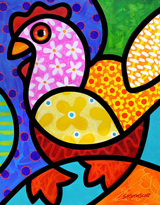 Painting - Spring Chicken by Steven Scott