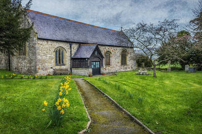 Religious Art Digital Art - Spring Church by Ian Mitchell