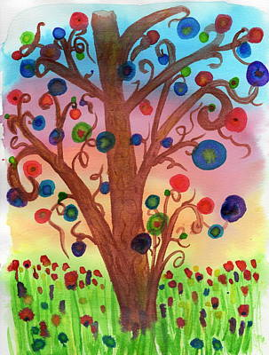 Painting - Spring Circles by Amanda Balough