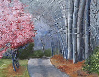 Cherry Blossoms Painting - Spring Color In Winter by William Killen